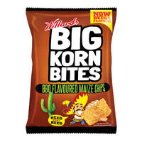 Willards Big Korn Bites BBQ 120G