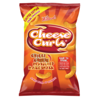 Willards Cheese Curls - Chilli Cheese 150g Packet