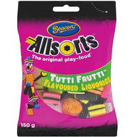 Beacon All Sorts Liquorice Tutti Fruity Flavour 150g bag